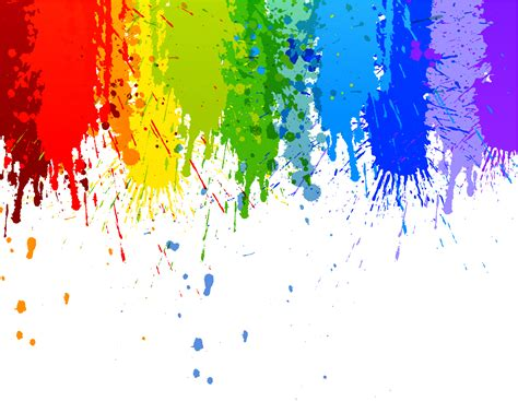 color splatter rainbow colour splash drip transparent background