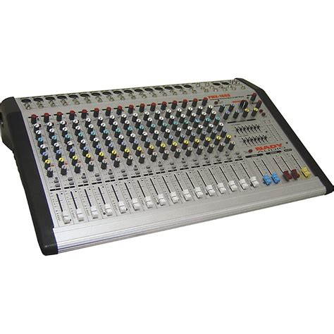 Mixer Audio 16 Ch nady pmx 1600 16 channel 4 powered mixer w dsp effects musician s friend