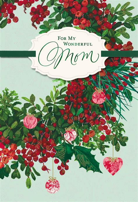love means   mom christmas card greeting cards hallmark