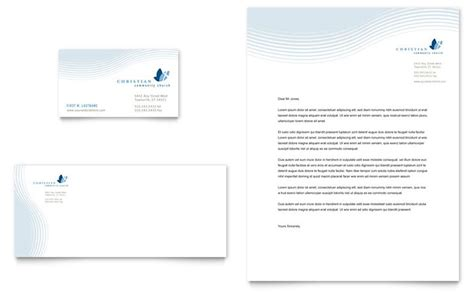 business cards letterhead templates christian ministry business card letterhead template design