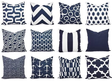 Navy White Pillow by Navy And White Pillow Cover Navy Blue Throw By