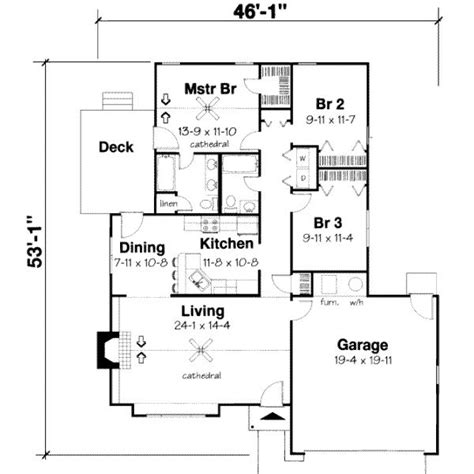 3 Bedroom Section 8 Houses 3 Bedroom Bungalow House Plan House Plans 1 Bedroom Bungalow