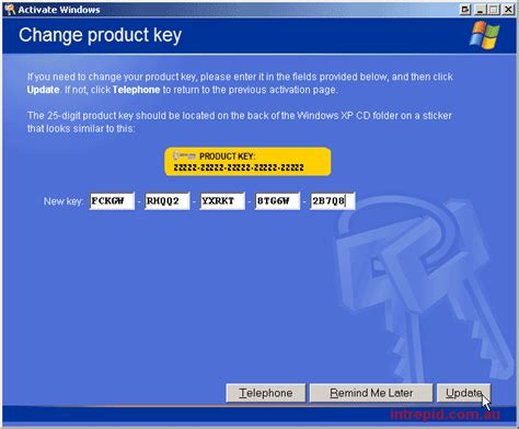 windows xp sp2 serial key