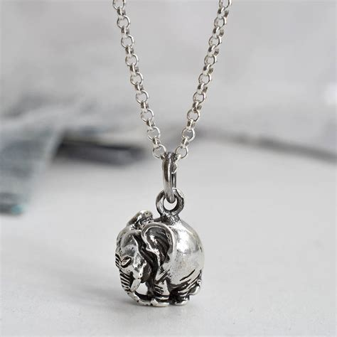 Necklace By sterling silver elephant necklace by martha jackson sterling silver notonthehighstreet