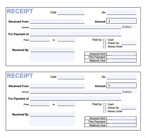 receipt template for escrow money 18 payment receipt templates free exles sles