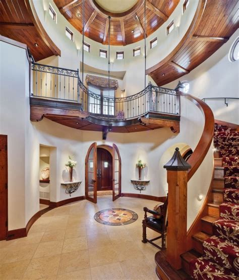 Tuscan Home Interiors 15 Extremely Luxury Entry Hall Designs With Stairs