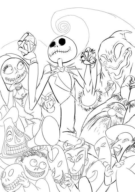 The Nightmare Before Christmas Coloring Pages Coloring Home A Nightmare Before Coloring Pages