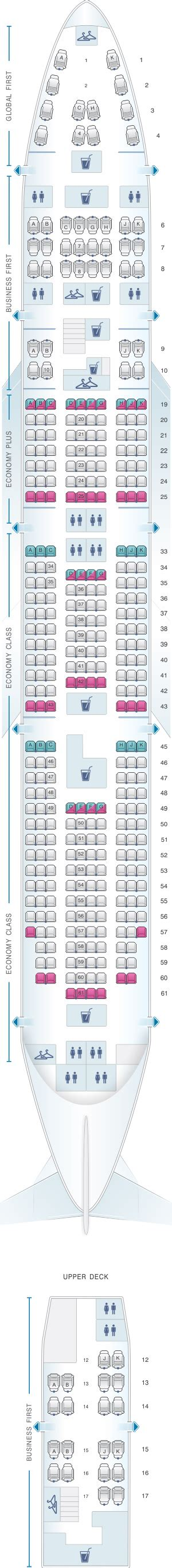 747 400 seat map seat map united airlines boeing b747 400 seatmaestro
