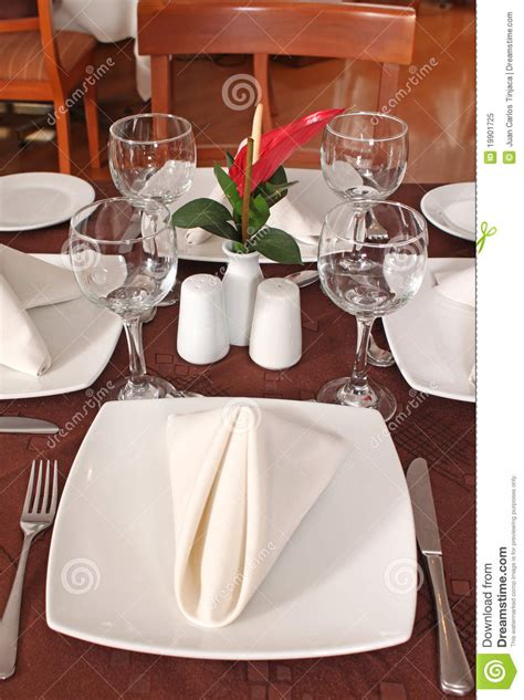 fine dining table setting table set for fine dining royalty free stock photo image