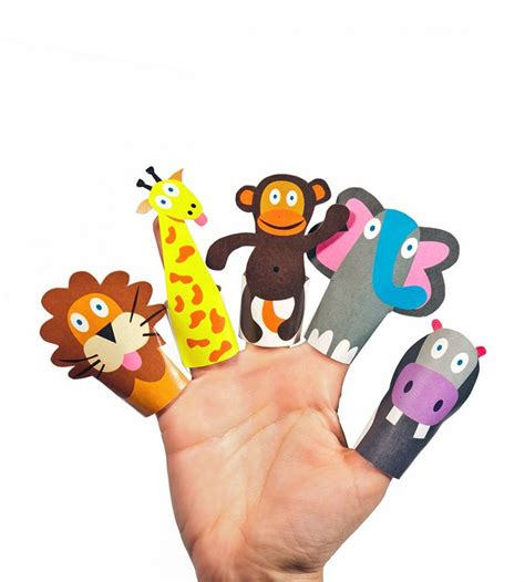 printable zoo animal finger puppets jungle animals paper finger puppets printable pdf toy