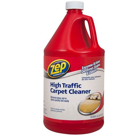 rug cleaner products zep 128 oz high traffic carpet cleaner of 4 zuhtc128 the home depot