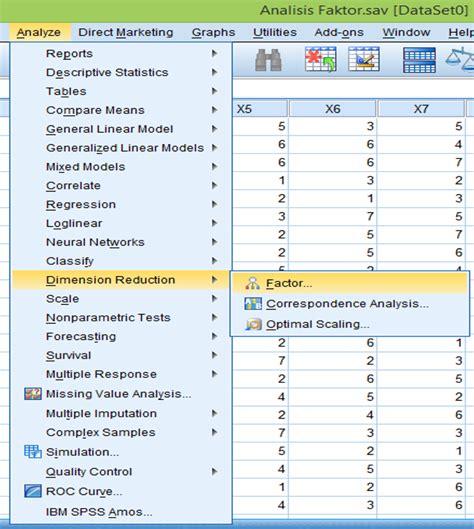 tutorial ibm spss 21 quot langkah langkah analisis faktor dengan ibm spss 21