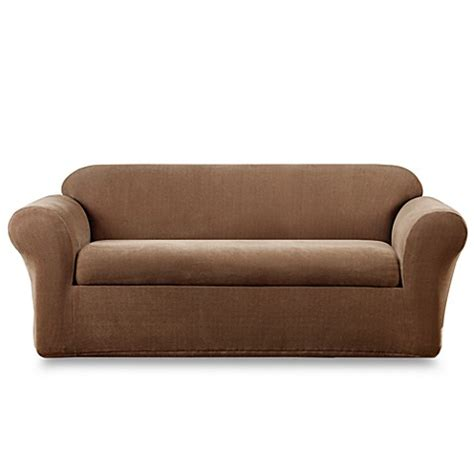 bed bath beyond slipcovers buy sure fit 174 stretch metro 2 piece sofa slipcover from
