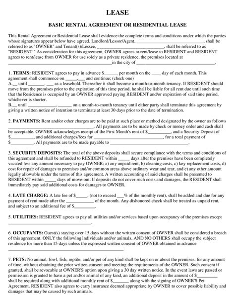 church rental agreement template