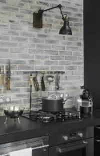 gray brick backsplash coloring grey and classic on