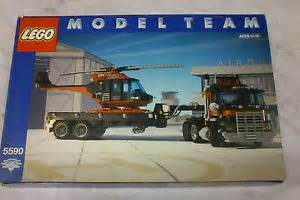 Wheels Truck With Helicopter 5590 Vintage Lego Model Team Whirl N Wheel Truck