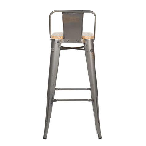 Wooden Stool With Backrest by Brushed Wood Lix Bar Stool With Backrest Sklum