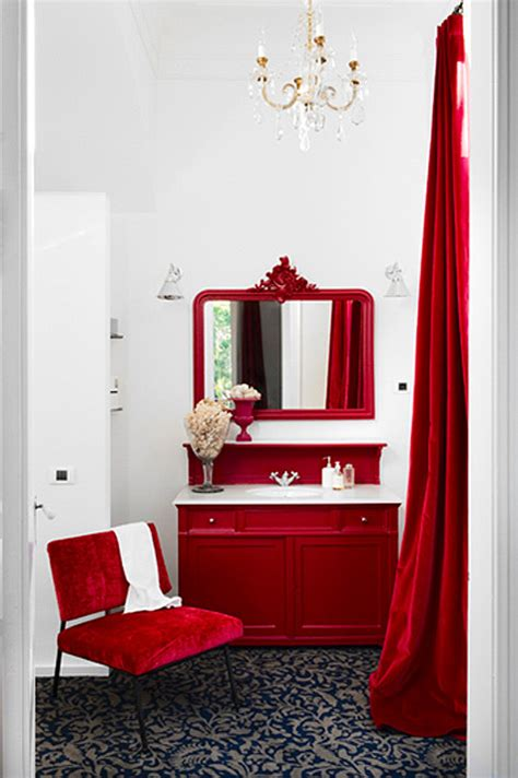 bathroom with red accents pinterio bathroom with red decor