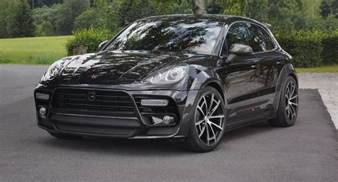 porsche suv blacked out mansory out to impress with black porsche macan