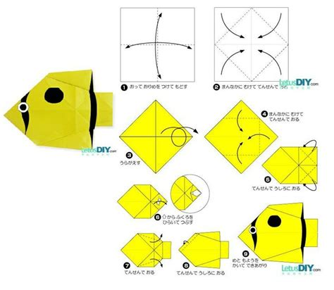 Paper Folding Fish - 17 best images about paper folding on tropical