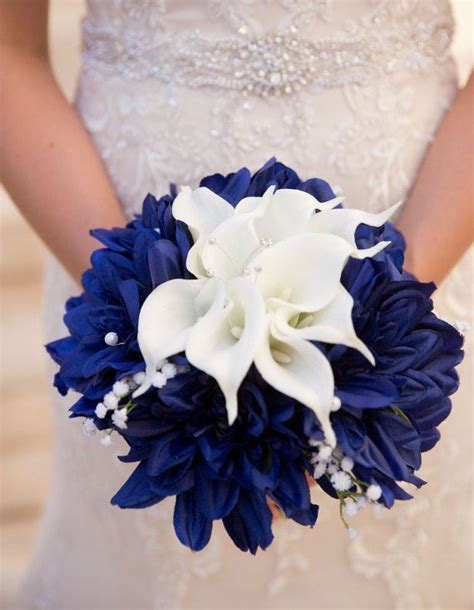 Wedding Bouquet Navy by Navy Blue Flowers For Weddings Www Imgkid The