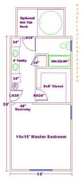 master bed and bath floor plans 14x30 master bed and bath floor plan 3 4 bath pinterest