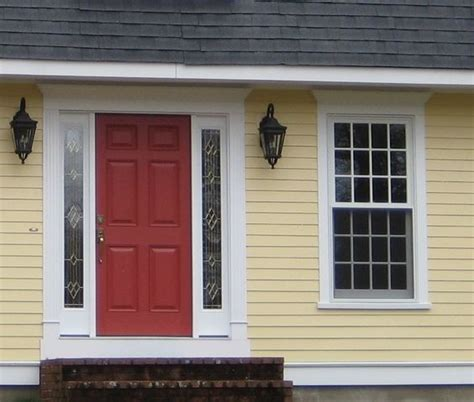 Choosing Front Door Color Choosing A Yellow For Your House Color Shutters Front Doors And House