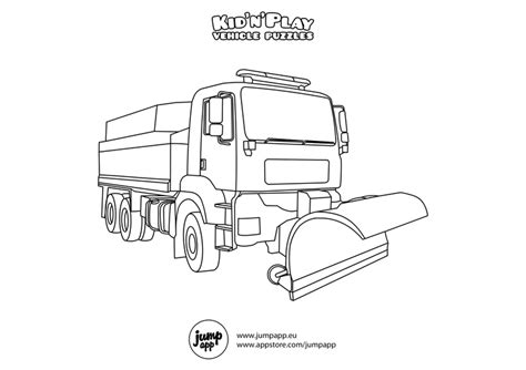 Snow Plow Coloring Page snow plow printable coloring pages