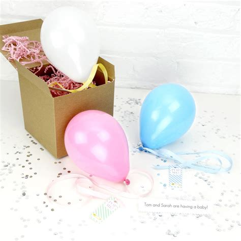 baby announcement with personalised baby announcement balloon by blossom notonthehighstreet