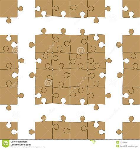 jigsaw pattern vector jigsaw puzzle seamless pattern stock illustration image