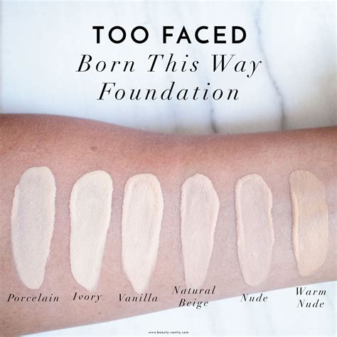 too faced pearl born this way foundation too faced born this way foundation swatches review