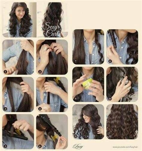 runglette curls step by step how to curl hair with wand step by step hair pinterest