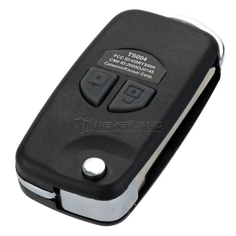 Remote Chasing For Suzuki 2 btn remote key fob folding flip for suzuki ignis