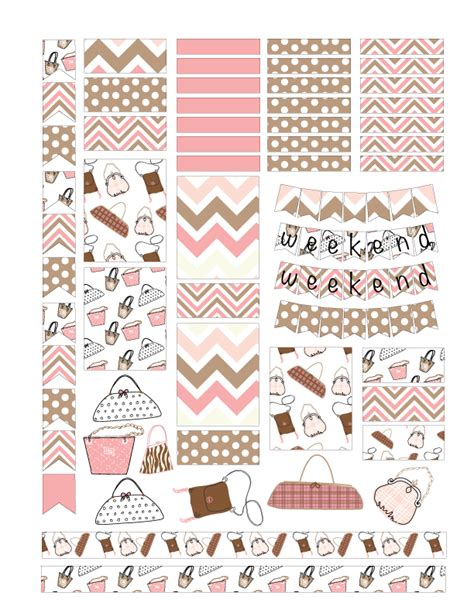 printable stickers pdf free purse planner sticker printables printable