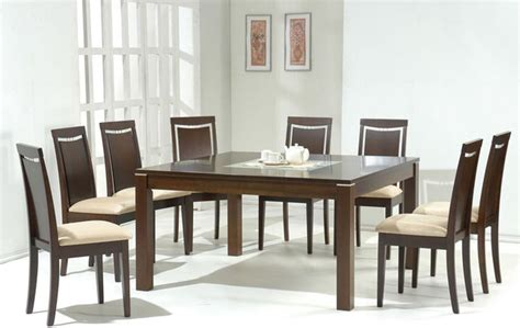 dining table sets modern contemporary style wooden and frosted glass top microfiber