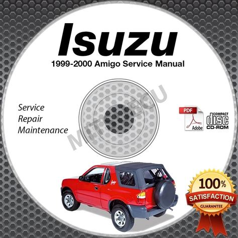 service manual 2000 isuzu amigo repair manual free 1999 2000 isuzu amigo service manual cd rom 2 2l 3 2l workshop repair shop