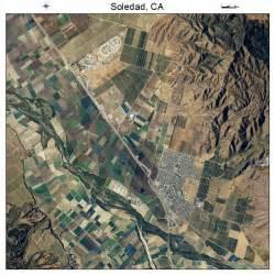 aerial photography map of soledad ca california