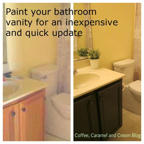 Painting A Bathroom Vanity Coffee Caramel How To Paint Your Bathroom Vanity