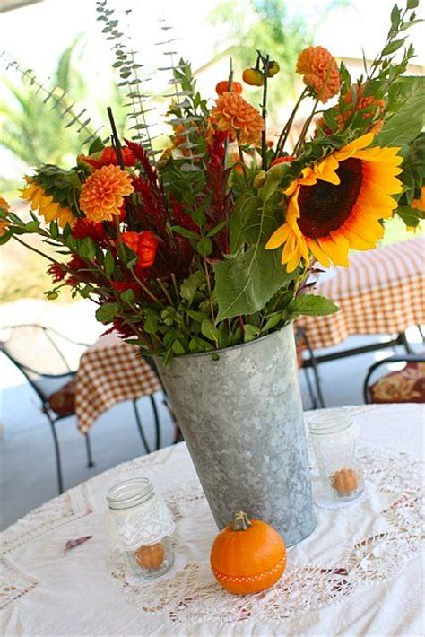 Fall Baby Shower Baby Shower Ideas Pinterest Fall Themed Centerpieces