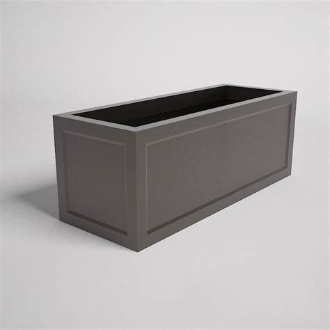 ashville rectangular planter boxes commercial landscape