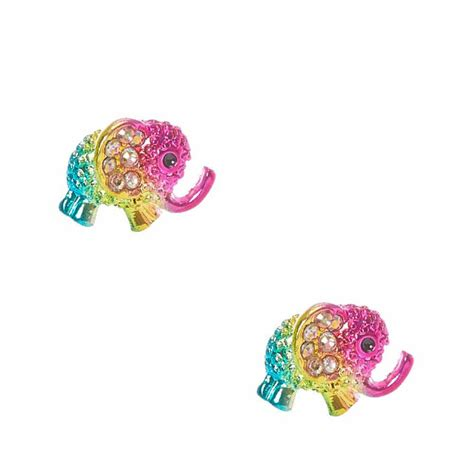 Rhinestone Stud Earrings rhinestone elephant stud earrings s us