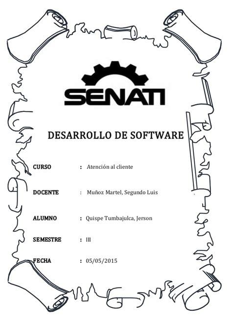 caratulas de senati para word senati virtual atenci 243 n al cliente