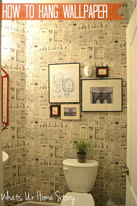 Wallpaper Vintage Cafe Newspaper Bandung how to hang wallpaper whats ur home story