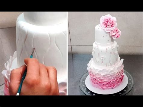 Wedding Cake Decorating Step By Step wedding cake decorating tutorial decorar con fondant by