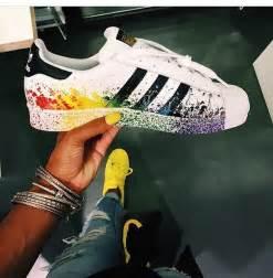 Custom Made Leather Sofas New Adidas Originals Superstar Rainbow Paint Splatter
