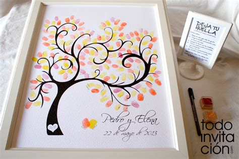 cuadro de firmas para boda cuadros de firmas con huellas en tu boda bautizo o