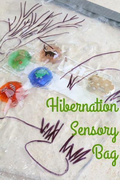 hibernation crafts for hibernation sensory bag challenge match the hibernating