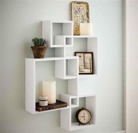 decorative white floating wall wood shelves shelf display