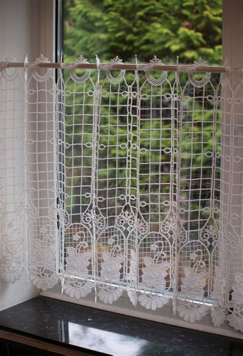 austin rose natural macrame cafe net curtain woodyatt