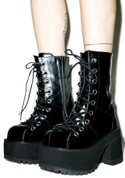 platform boots demonia pressure platform boots dolls kill